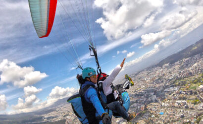 Sobre volando Quito